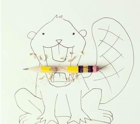q版二次元人物萌图手绘铅笔稿