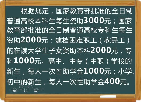 助学金人均年收入_助学金手抄报