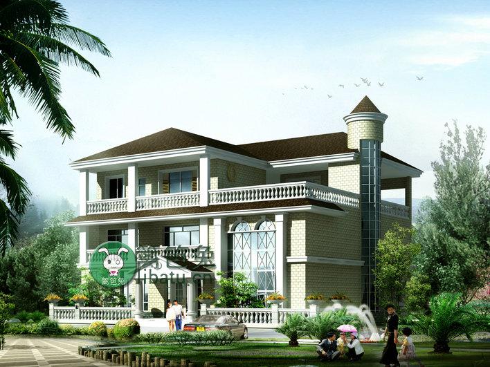 新农村住宅建筑设计图,别墅设计全套cad图纸