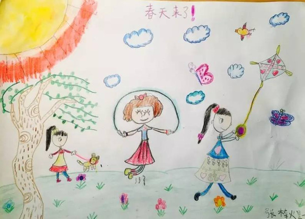"""北京晨报""""小小艺术家之寻找春天""""海选作品展示图片"""