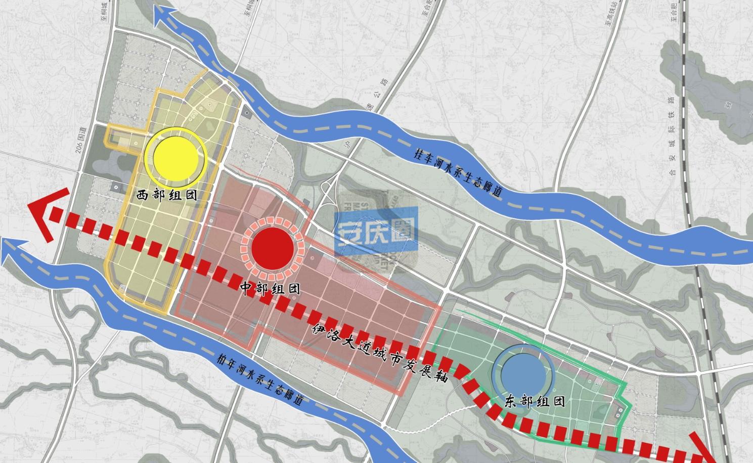 桐城南部新城规划正在公示