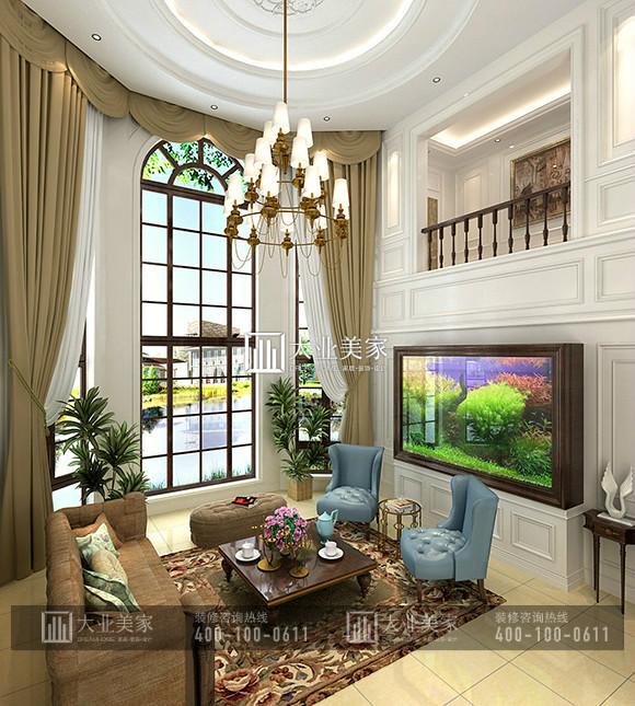 御汤山熙园585平米美式乡村风格别墅装修设计