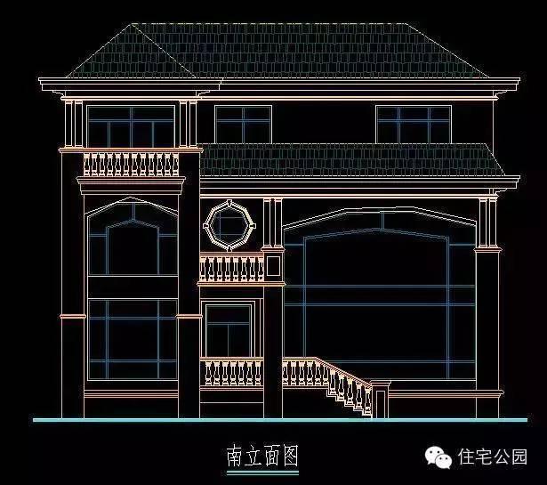 30万自建3层现代别墅13x12米