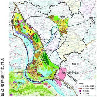 图为:滨江新区远景规划图