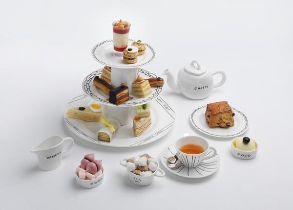 [新奇设计]可爱手绘风午茶餐具