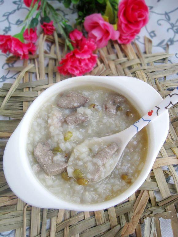 四,猪肝绿豆粥多春鱼籽生食图片