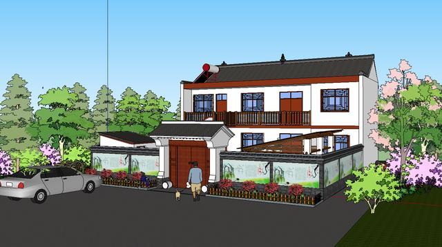 真正接地气的乡村小院设计分享(3d 平面)图片
