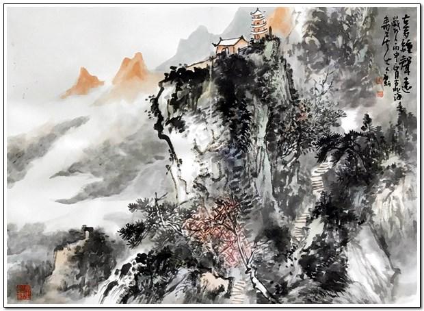 李国强山水画册页《林泉游记》欣赏