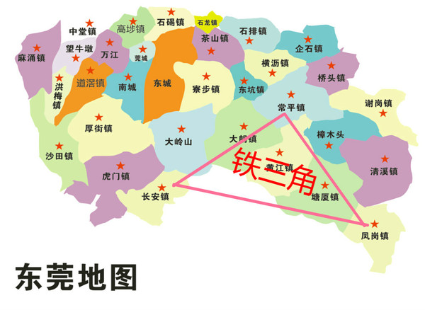 广东东莞长安镇地图