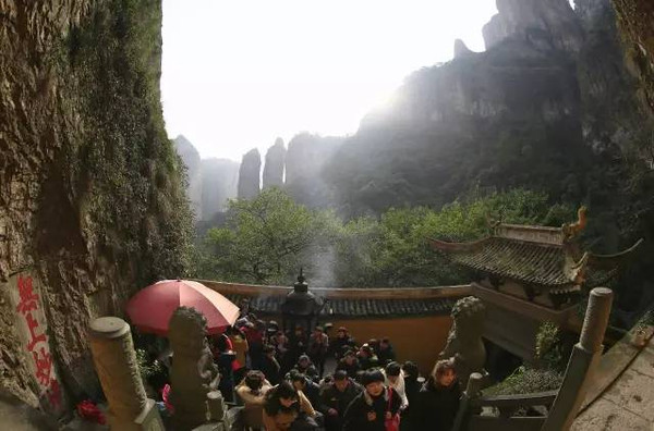 江南雨景7   雨后竹林分外翠   南方的竹林格外多,   雁荡山下雨的时候,   云雾缭绕着、奔跑着,   似乎在告诉人们这里是仙境.图片