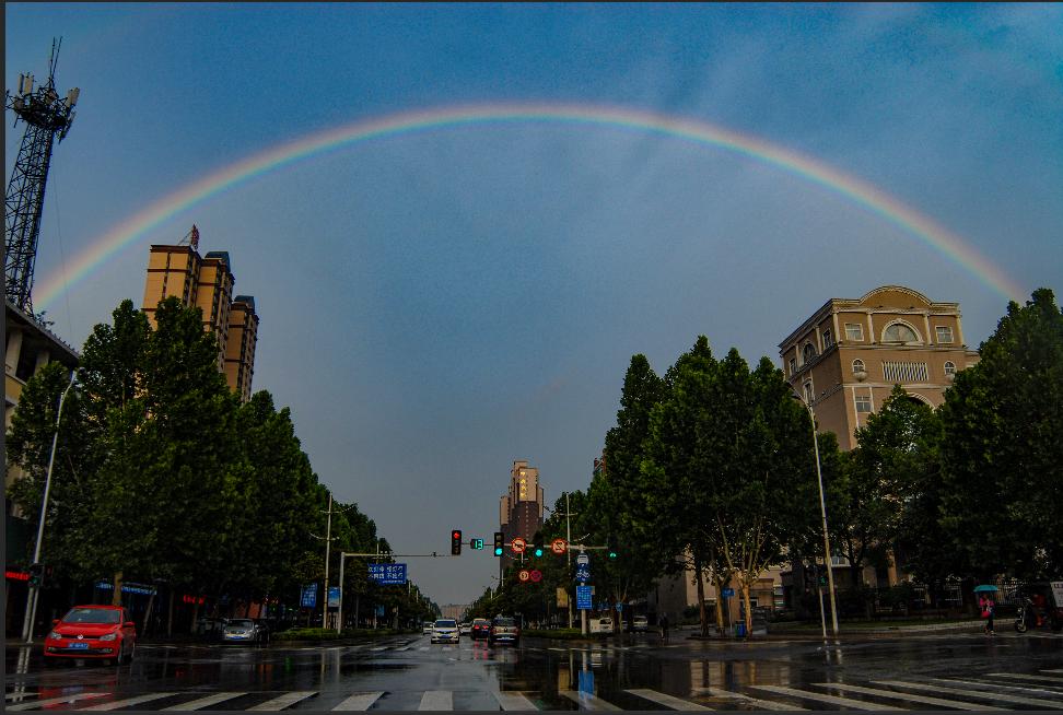 风雨过后 终见彩虹 上街加油!
