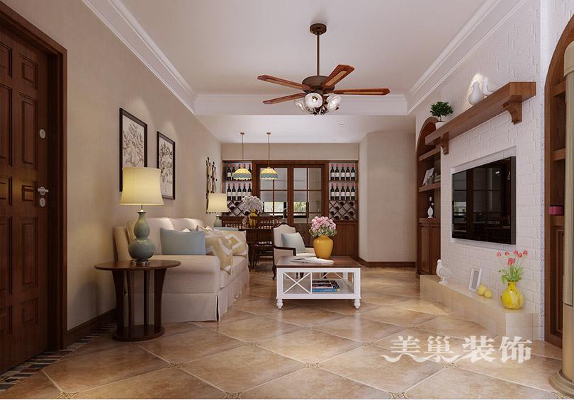 睿智禧园装修效果图美式的电视柜酒柜鞋柜图片