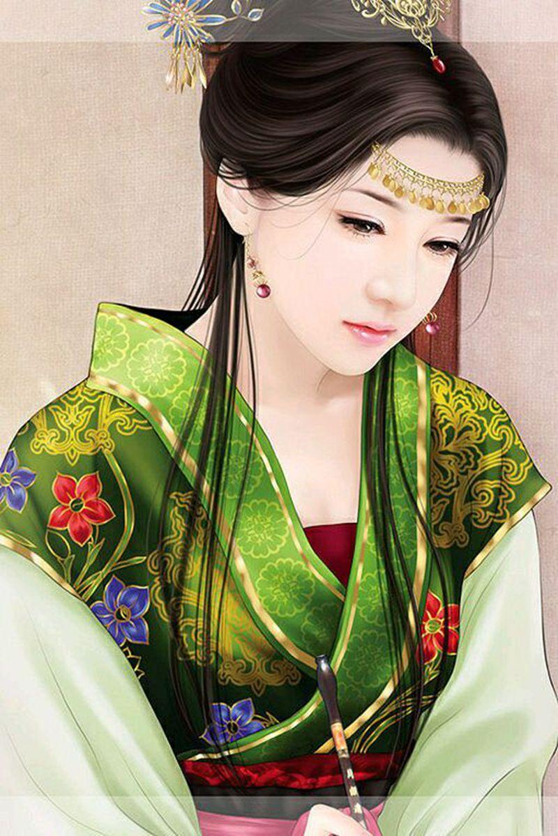 一顾倾人城,再顾倾人国--惊艳古装手绘美女