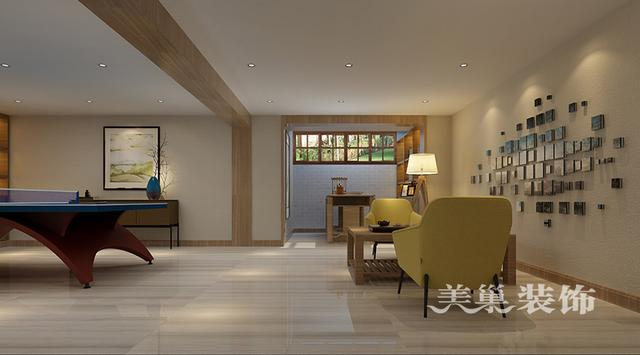 苑别墅设计欧式古典436平效果图——地下室休息区