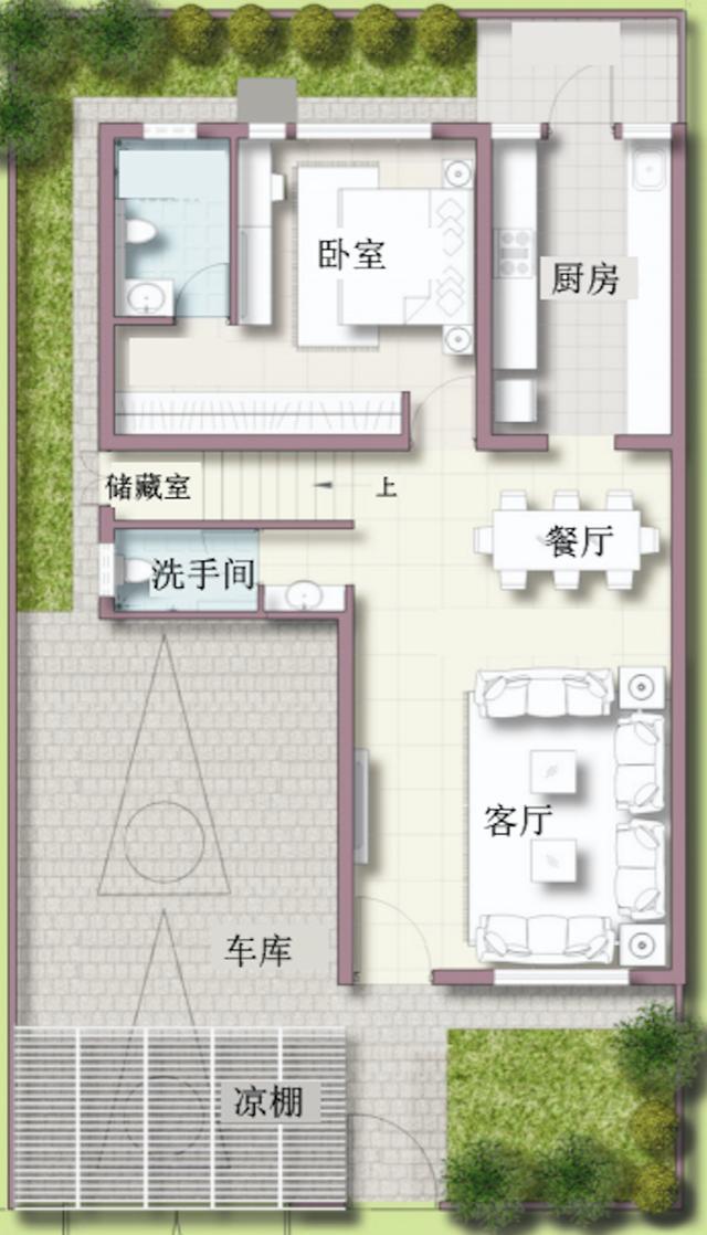 农村建房9x16米 价值一万元的户型设计