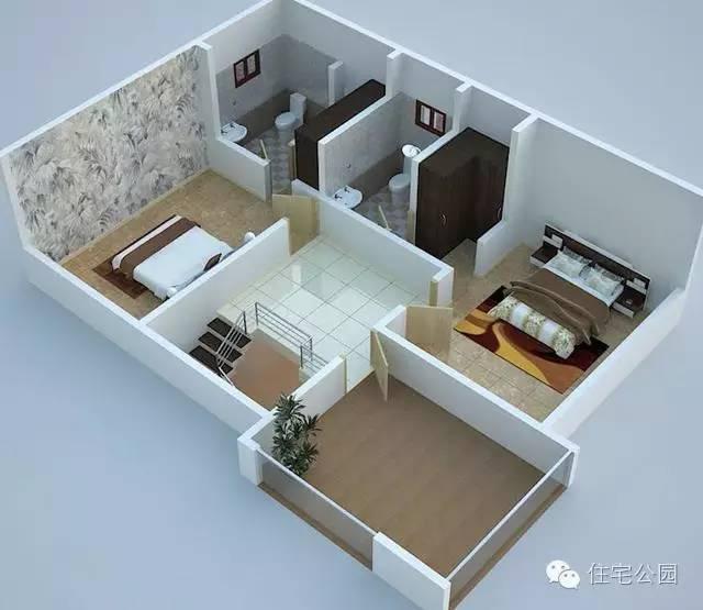 农村自建房客厅效果图/农村三间房改造效果图/农村房子设计两程半图图片