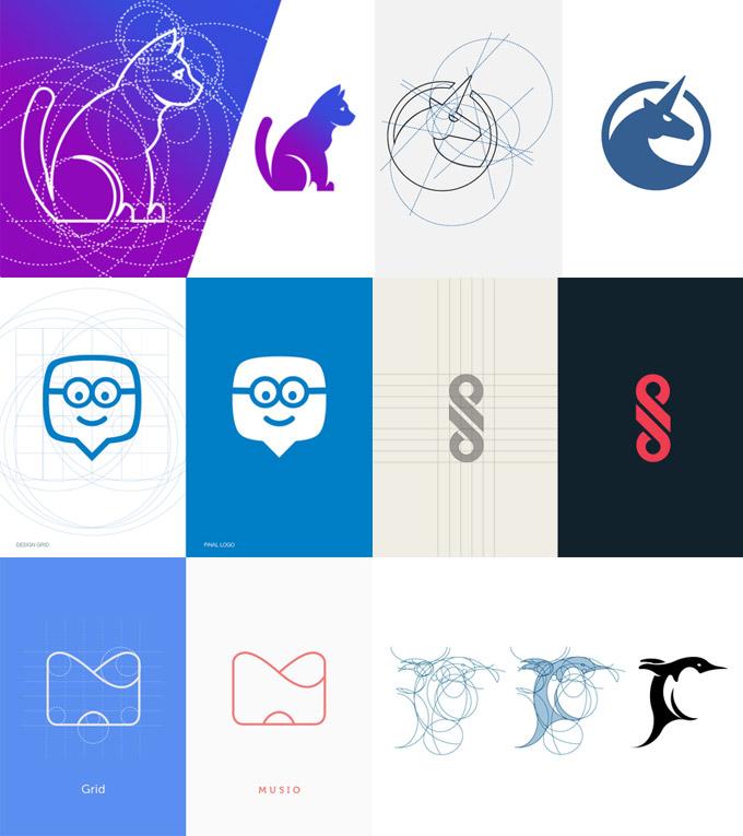 VI设计版式都要放在标志网格中关于论坛设计的比例图片
