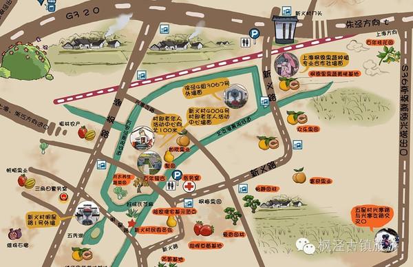 【新鲜出炉】枫泾手绘地图,带你玩转小镇