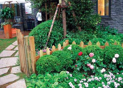 私家庭院景观花卉绿化是以植物造景为主体