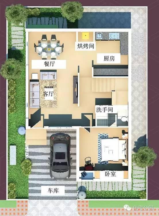 求农村自建房12米 12米双拼设计图纸图片