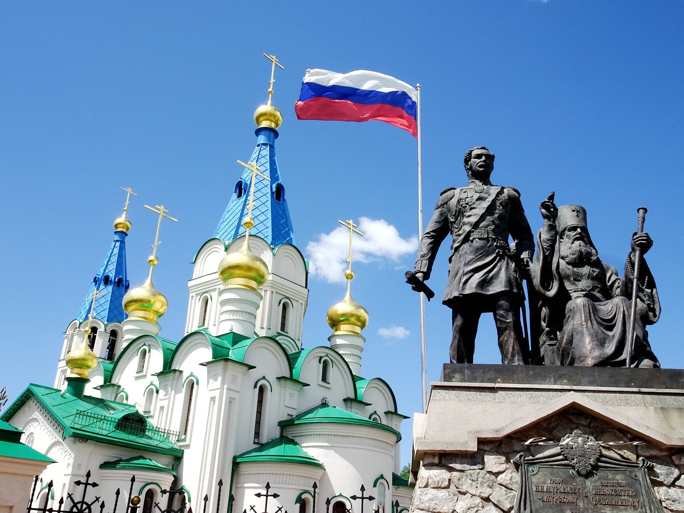 俄罗斯菇凉结婚不到教堂仪式简单 因为小鲜肉太少