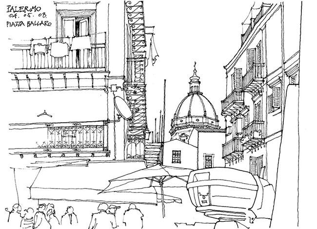 国外建筑手绘图-速写