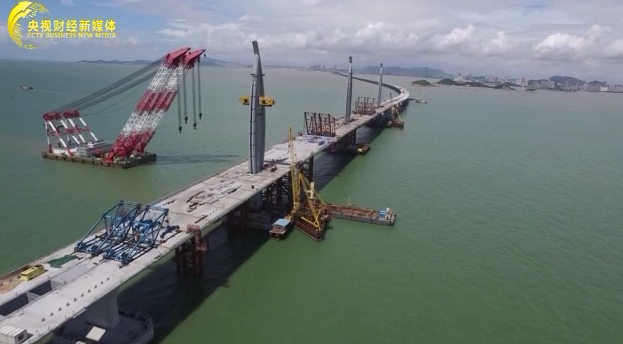 可抵御16级台风 港珠澳大桥主体桥梁成功合龙 央视财经 经济信息联播