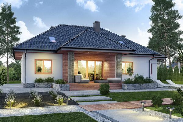 新农村自建18x15米现代别墅