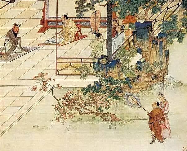 21打猎人物图元代长卷绢本设色(美)圣易斯美术馆藏