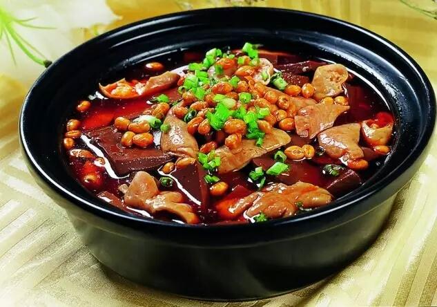邓涛河鱼血旺美食籽鱼是肥肠吗图片