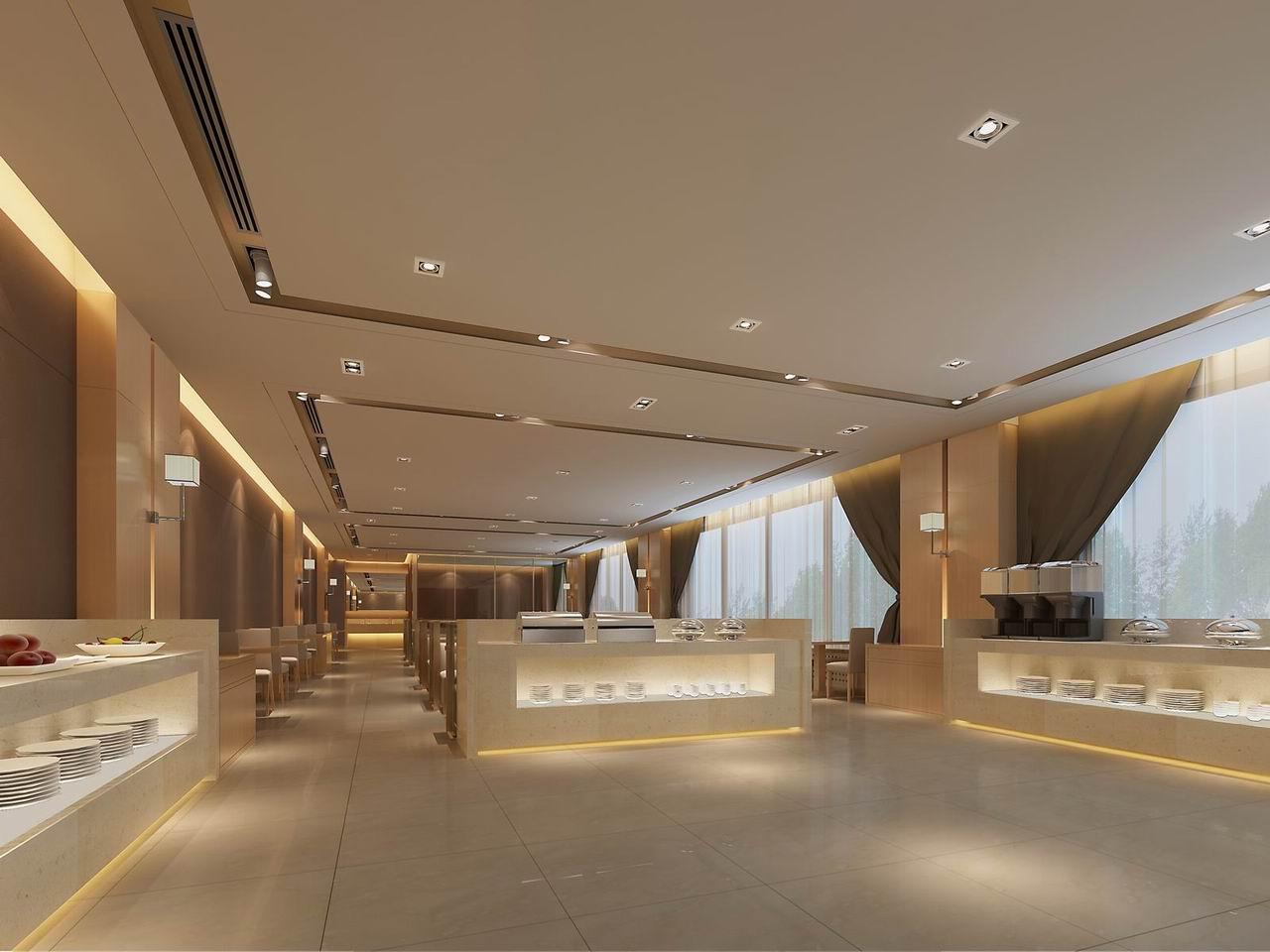 现代饭店装修效果图