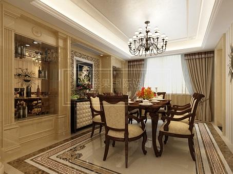 欧式 双拼别墅宫廷吊灯配以尊贵大气的精美天花板