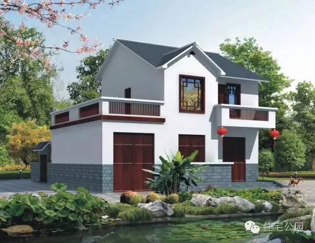 5套农村中式建房户型 30万搞定小二楼 (600x463)-农村自建别墅设