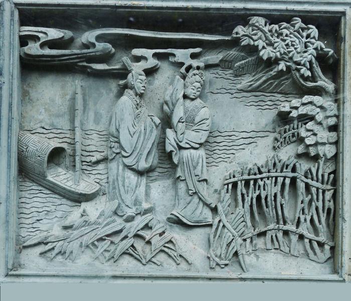 人物浮雕 题材写实浮雕 之 西施传说 上集图片