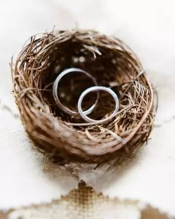 鸟巢婚戒盒,纸藤,软树枝都能快速编织出一个鸟巢戒指盒,如同亲手编织