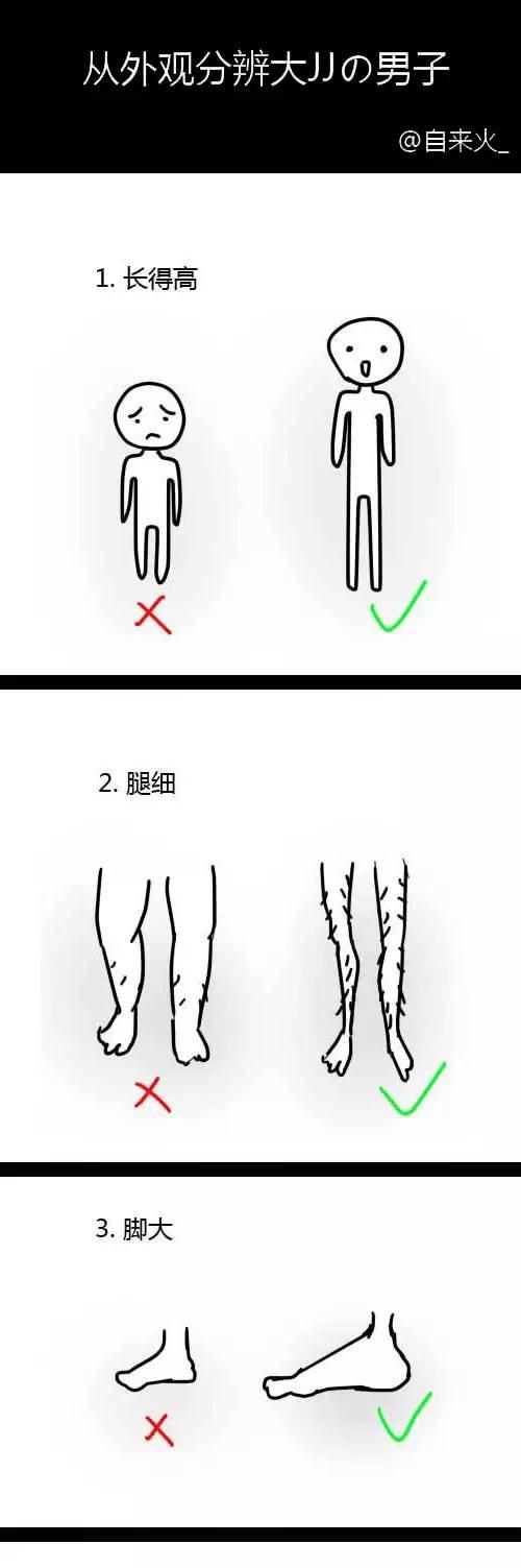 男生丁丁的几种形状图