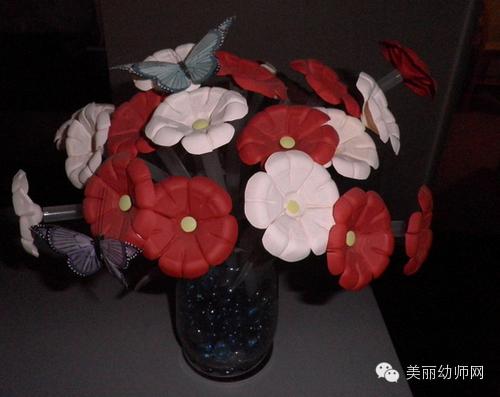 幼儿创意手工教程之——矿泉水瓶变假花
