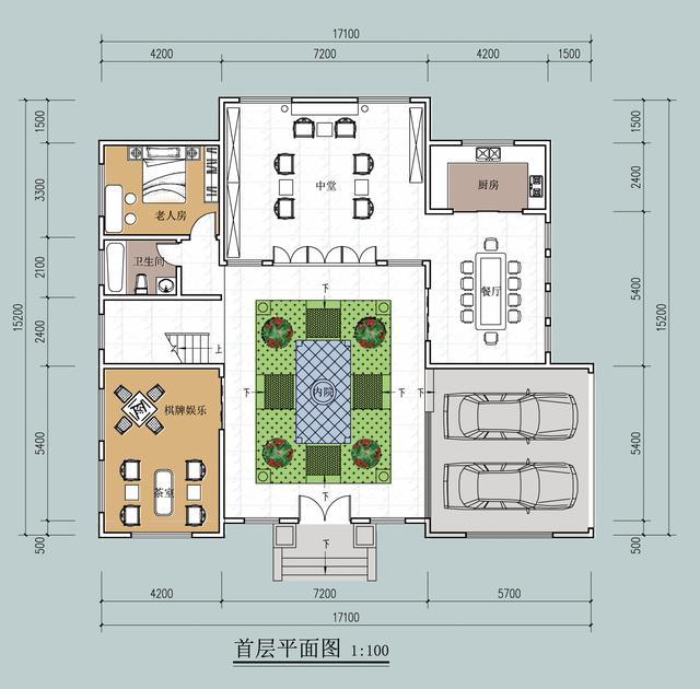 砖混结构四合院平面布局图
