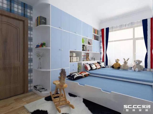卧室融合了庄重与优雅双重气质,流畅的线条装饰和中式的木格装饰,体现图片