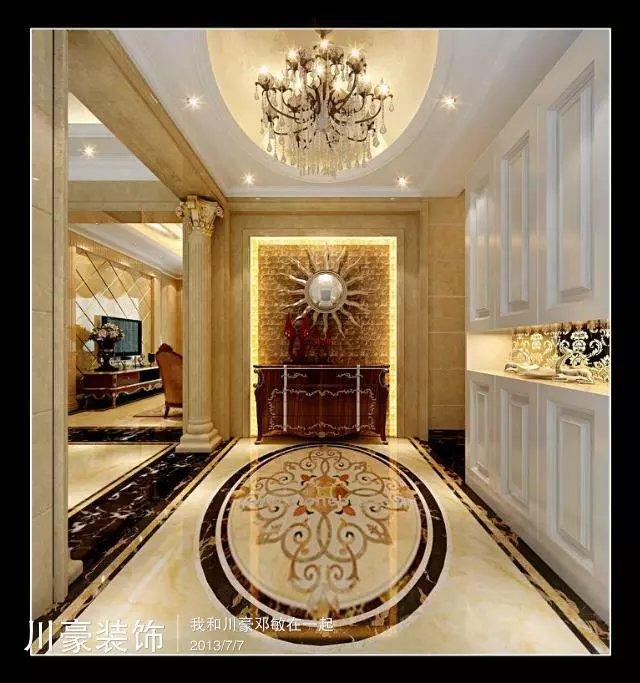 巢湖碧桂园500平方别墅复式户型欧式风装修效果图图片