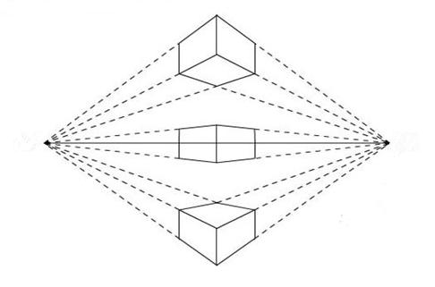 一点透视手绘线条图