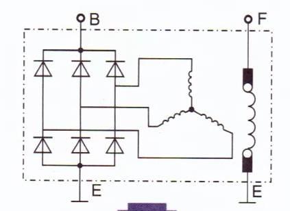 的是把发电机的三相交流电