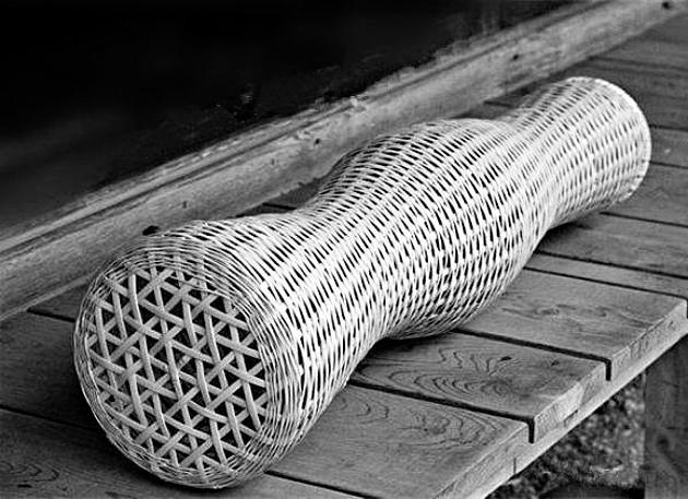 竹夫人又叫教程,是一种沟通,有青奴的圆柱形网眼编制品.心理学中空v夫人跨文化竹篾图片