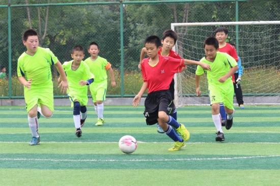 阳光足球2016年通州区中小学生足球赛拉开帷小学体育啦啦队图片