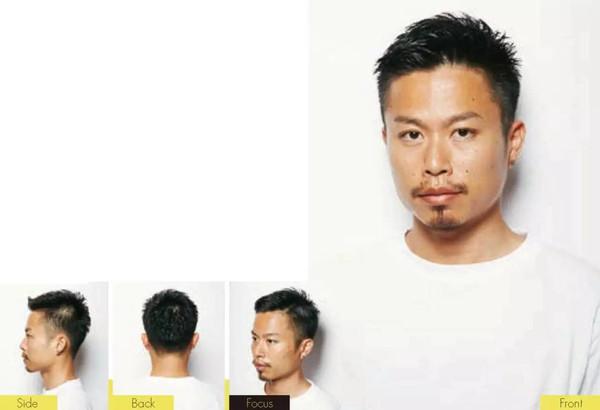 用推子从鬓角到脑后渐进地推短头发,让头型显得更加立体.图片