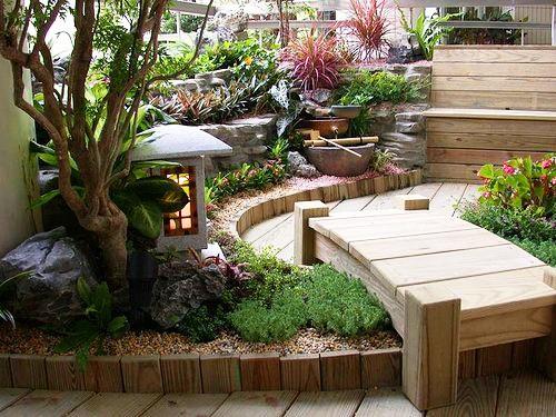 别墅别墅庭院设计施工:各式常用植物园林v别墅庭院哈哈派图片