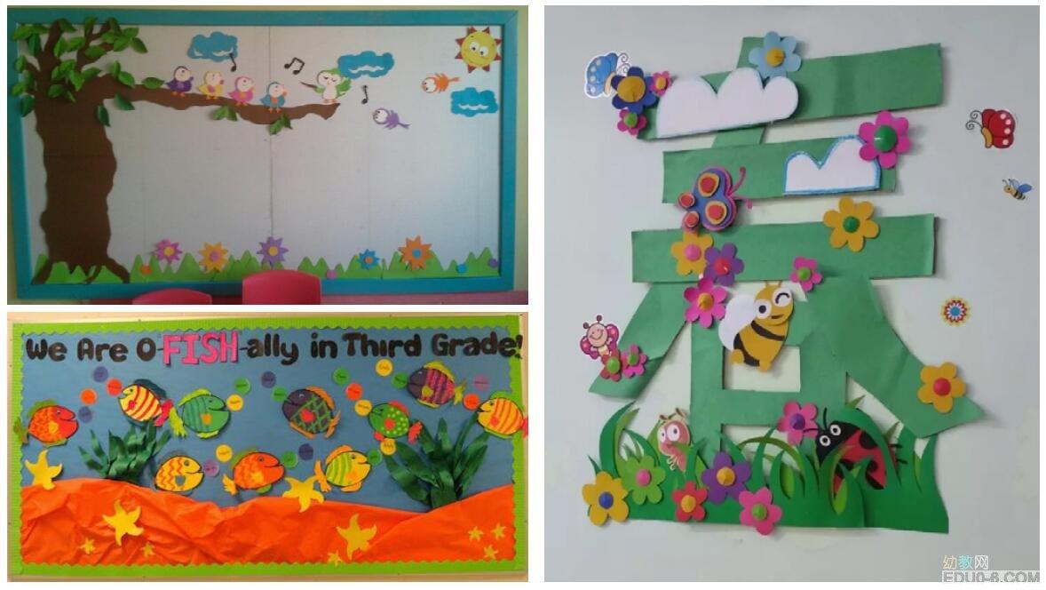 幼儿园春季主题墙最精彩的都在这里了
