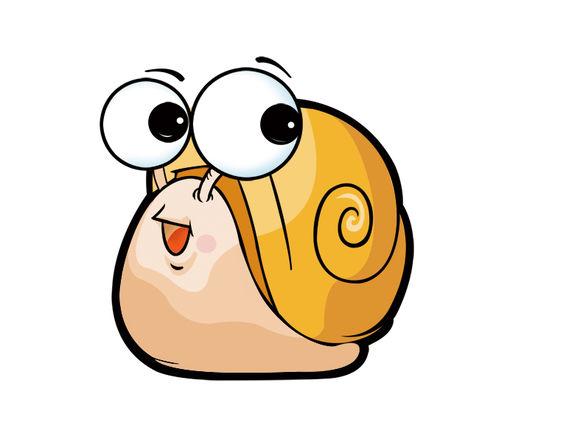 努力蜗牛手绘图片