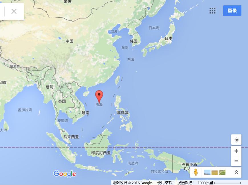 谷歌,微软,mappy地图等地图标注为中国南海