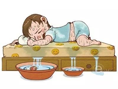 小儿盗汗是以小儿入睡后大汗淋漓,醒后即止为特征的病症.图片